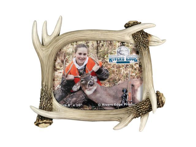Rep Picture Frame Large Resin  Deer Antler