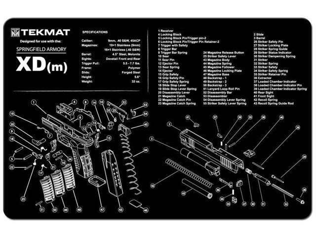 Tekmat Springfield Armory XDm Handgun Mat 17-XDM