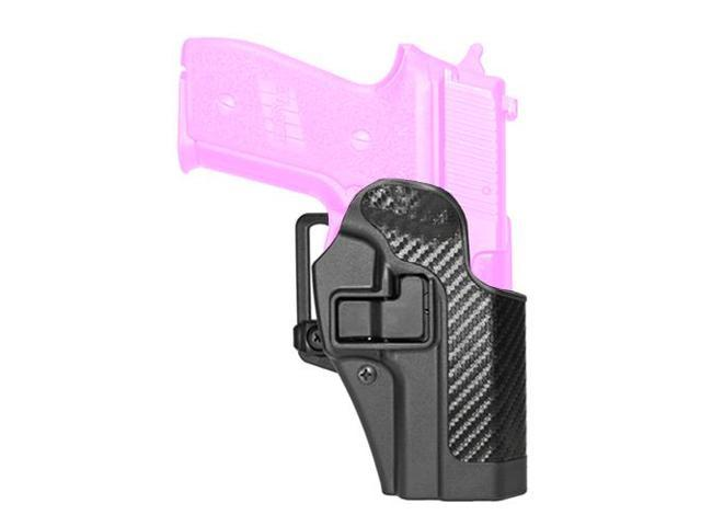BlackHawk CQC SERPA Holster With Belt and Paddle Attachment, Fits Sig 228/229/250 DC, Right Hand, Carbon Fiber, Black 41