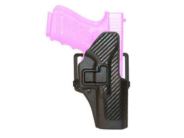 BlackHawk CQC SERPA Holster With Belt and Paddle Attachment, Fits Glock 19/23/32/36, Right Hand, Carbon Fiber, Black 410