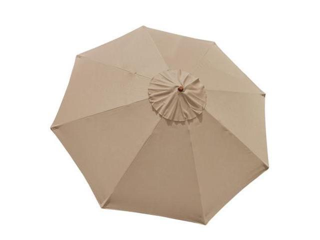 10 Ft Patio Market Umbrella Replacement Canopy Tan