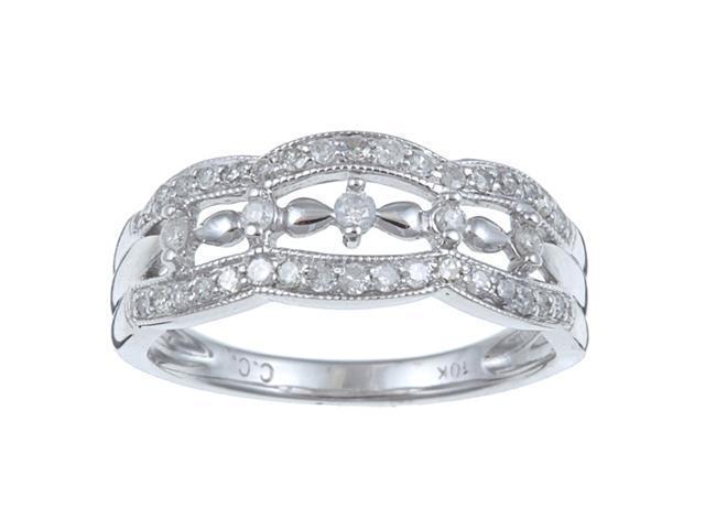 1/3 TDW Antique Vintage Pave Diamond Ring in Sterling Silver (G-H, I1-I2)