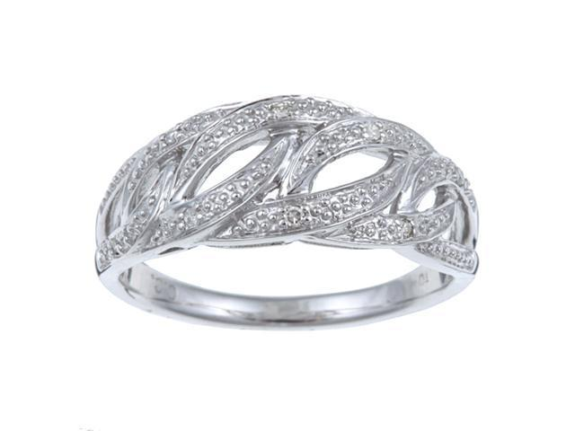 Pave Weave Style Diamond Ring in Sterling Silver (G-H, I1-I2)