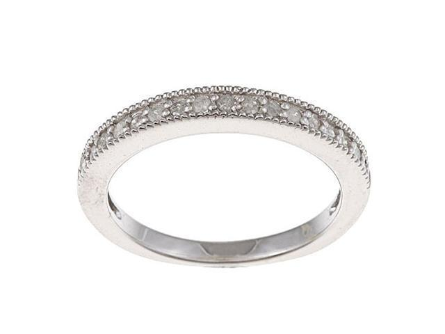 Sterling Silver 1/3 TDW Pave Diamond Band (G-H, I1-I2)