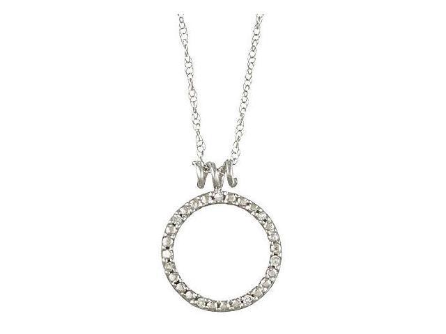 White Gold Diamond Circle Pendant Necklace (G-H, I1-I2)