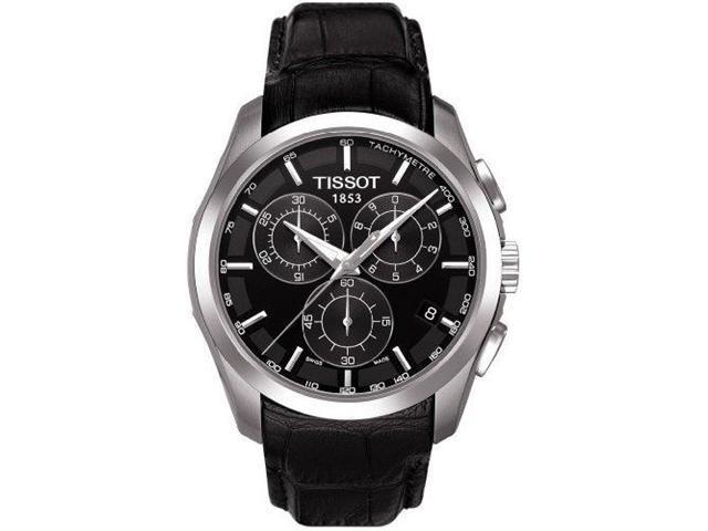 Tissot T-Trend Couturier Black Dial Chronograph Mens Watch T0356171605100