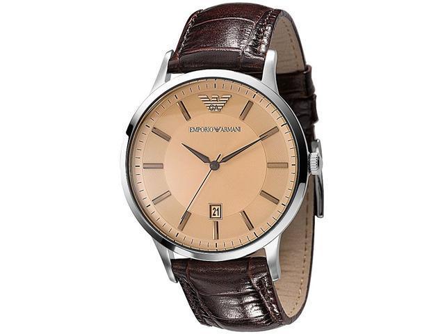 Emporio Armani Leather Classic Mens Watch AR2427