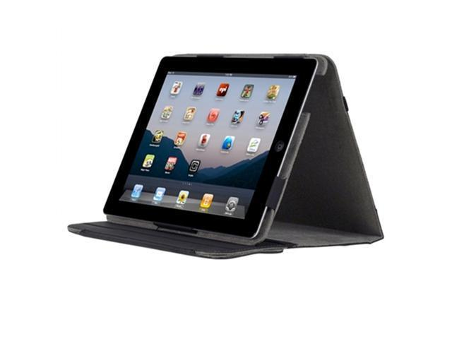 Incipio Apple iPad 2 / 3 Premium Kickstand Leather Case, Gray / Black
