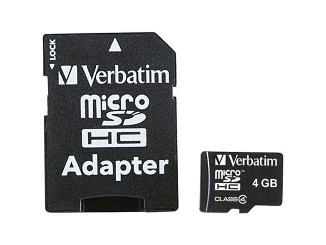 Verbatim 4GB microSDHC Flash Card Model 96726