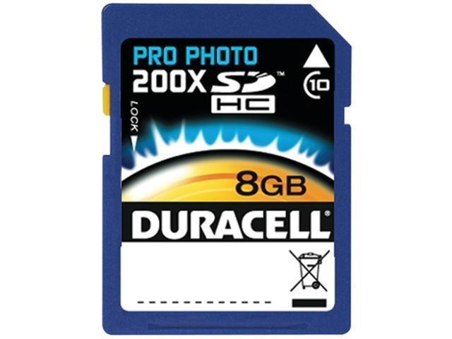 Duracell Pro Photo DU-SD1008G-C 8 GB Secure Digital High Capacity (SDHC) - 1 Card
