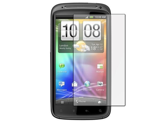 Clear LCD Screen Protector Guards with Lint-free Cleaning Cloth compatible with HTC Sensation 4G, 4-Pack Combo