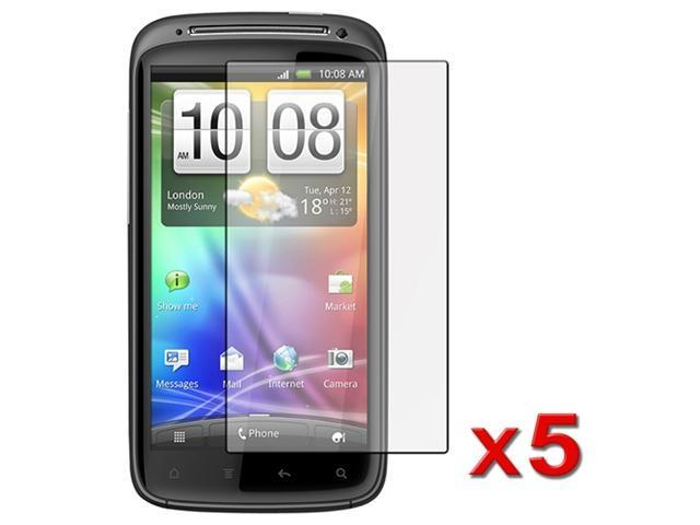 5 x Reusable Screen Protector Shields compatible with HTC Sensation 4G