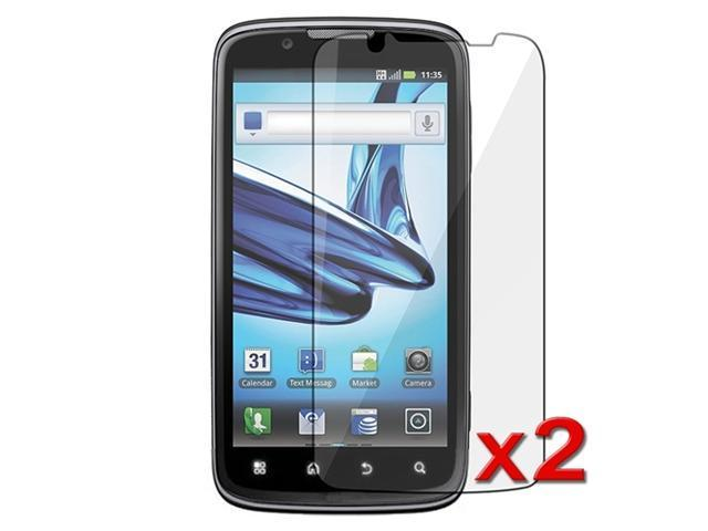 Transparent Clear LCD Screen Protector Film compatible with Motorola Atrix 2 MB865 (Twin Pack)