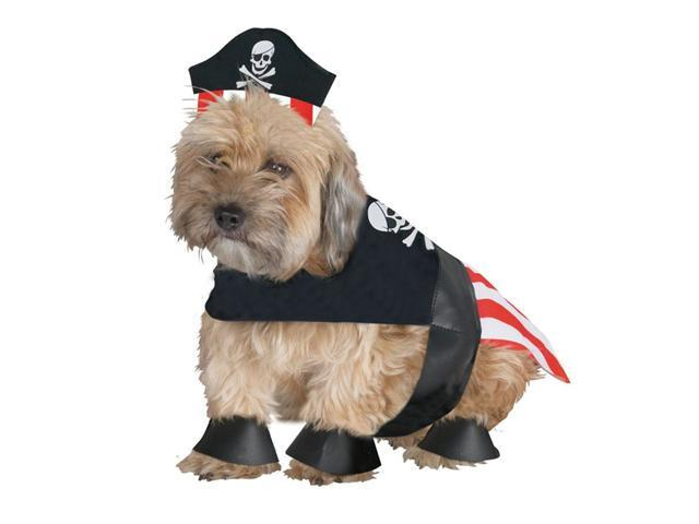 Pirate Dog Pet Costume (As Shown;Medium)