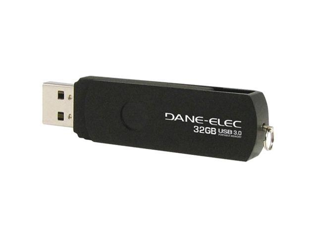 Dane-Elec 32 GB USB 3.0 Flash Drive - Black