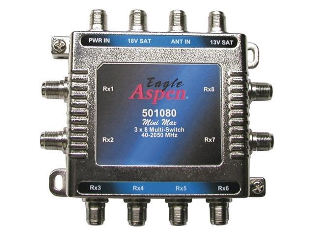 EAGLE ASPEN 501080 3-In x 8-Out Multiswitch with Optional Power Supply Port