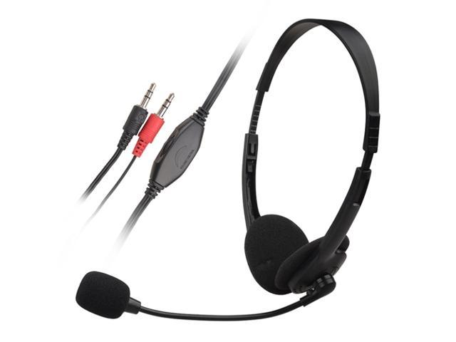 eForCity VOIP / SKYPE Hands-free Headset with Microphone, Black