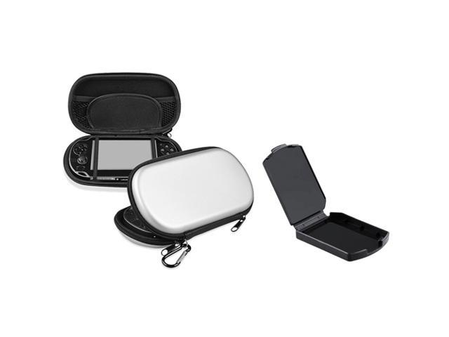 eForCity Silver EVA Case Cover+Black Game Card Box Compatible With Sony Playstation PS Vita PSV
