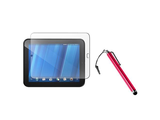 Red Touch Screen Stylus For HP TouchPad w/ screen protector