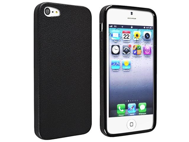 eForCity TPU Case Compatible with Apple® iPhone 5, Black Skin Veins