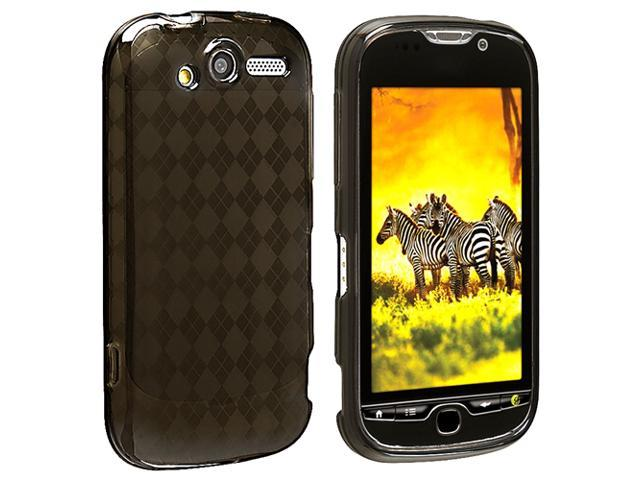 TPU Rubber Skin Case compatible with HTC T-Mobile myTouch 4G, Clear Smoke Argyle