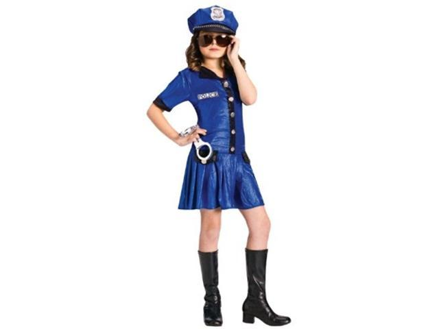 Police Girl Child Costume Size 8-10 Medium