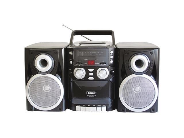 Naxa npb426 portable cd player with am fm radio cassette amp detachable