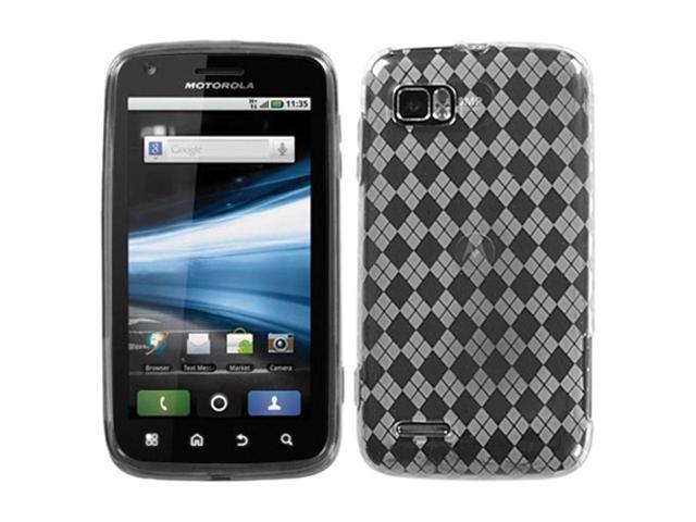 MYBAT T-Clear Argyle Pane Candy Skin Cover for MOTOROLA MB865 (Atrix 2)