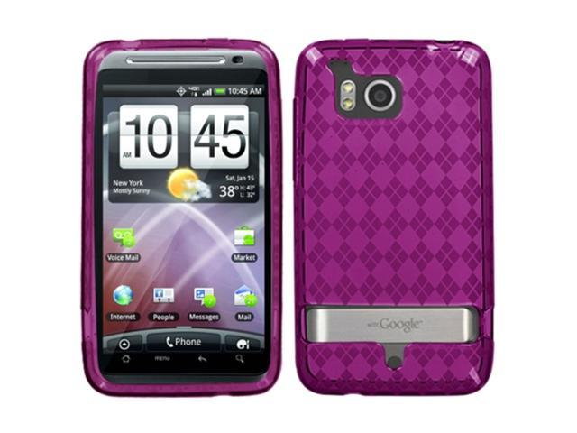 MYBAT Hot Pink Argyle Pane Candy Skin Cover for HTC ADR6400 (Thunderbolt)