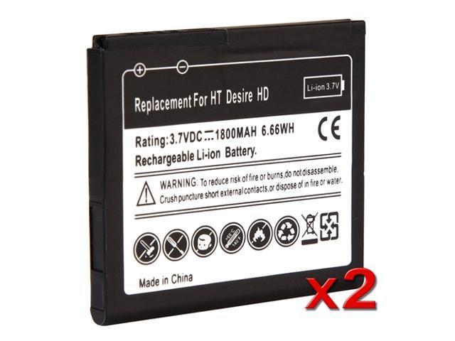 2 x 1800 mAh Li-Ion Standard Battery For HTC Inspire 4G