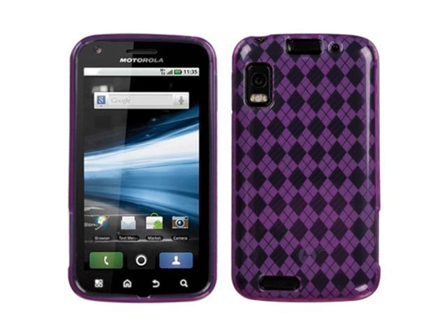 MYBAT Purple Argyle Pane Candy Skin Cover Compatible With MOTOROLA MB860(Olympus/Atrix 4G)