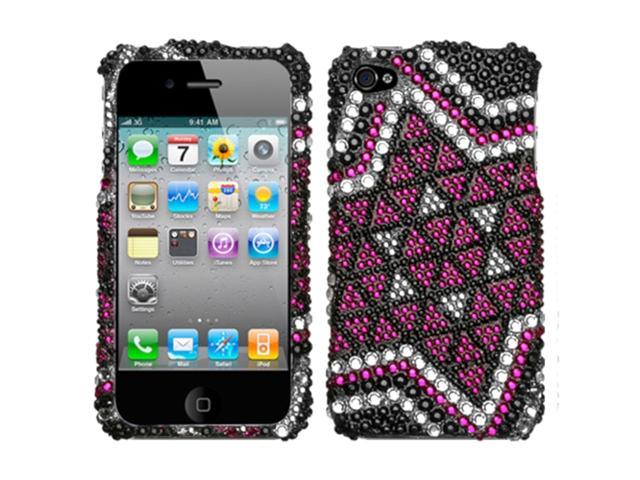 MYBAT Solitaire Premium Diamante Protector Cover (with Package) for APPLE iPhone 4S/4