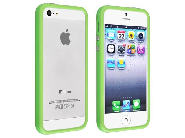 Apple iPhone 5/5S Case, eForCity TPU Rubber Candy Skin [Anti-Shock] Bumper Case Cover for Apple iPhone 5/5S, Green