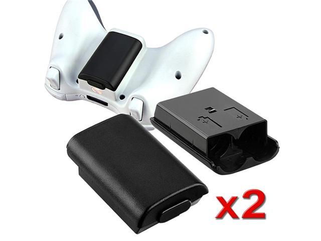 eForCity 2 x Black Wireless Controller Battery Pack Shell For Microsoft Xbox 360