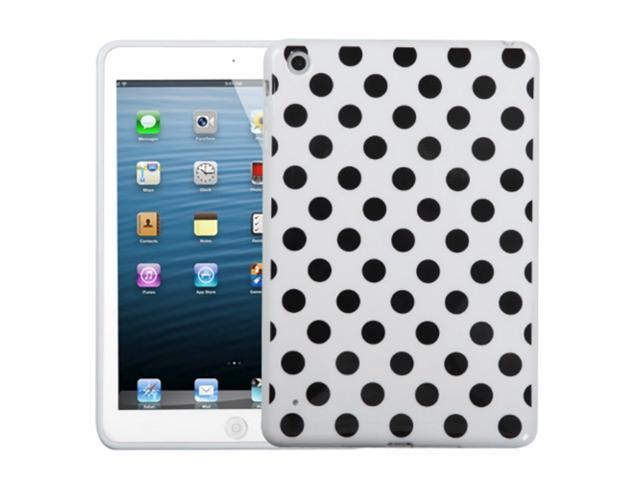 MYBAT White Black Polka Dots Tpu Soft Cover Case Compatible With Apple® iPad Mini/iPad mini with Retina display (iPad Mini 2) by ApexGears