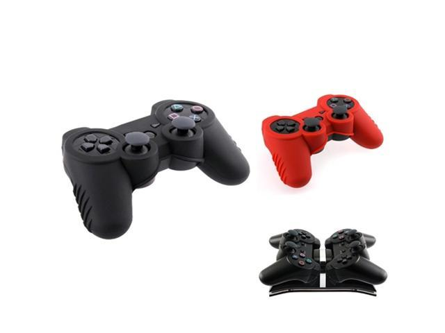 Dual Charging Station + 2 Skin Case For PS3 Controller