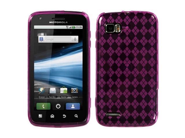 MYBAT Hot Pink Argyle Pane Candy Skin Cover for MOTOROLA MB865 (Atrix 2)