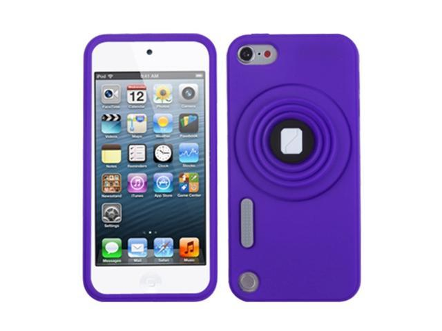 Apple iPod Touch 5th Gen/6th Gen Case, eForCity 3D Camera Style Stand Rubber Silicone Soft Skin Gel Case Cover Compatible ...