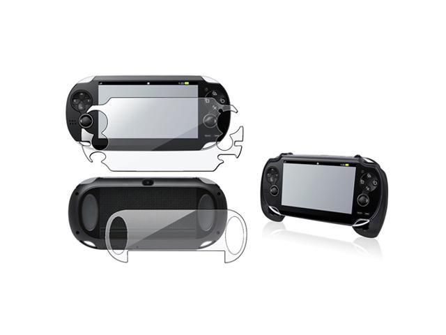 eForCity Clear Full Body Screen Protector+Black Hand Grip For Sony Playstation PS Vita