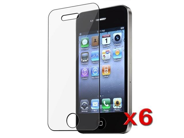 eForCity iPhone 4/4S Screen Protector - [6-Pack] Clear Premium LCD Screen Protector Cover Guard Film Shield For iPhone 4 4G