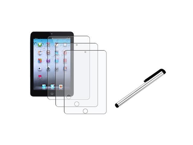 eForCity 3X Anti-Glare LCD Protector Guard Shield+Silver Stylus compatible with Apple iPad Mini 1 / Apple iPad Mini 2 / iPad ...