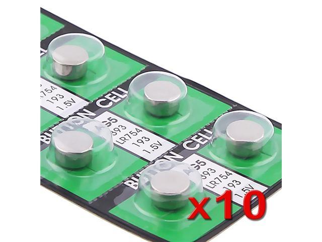 eForCity AG5 Button Cell Lithium Battery for Calculator / Watch, 10-pack