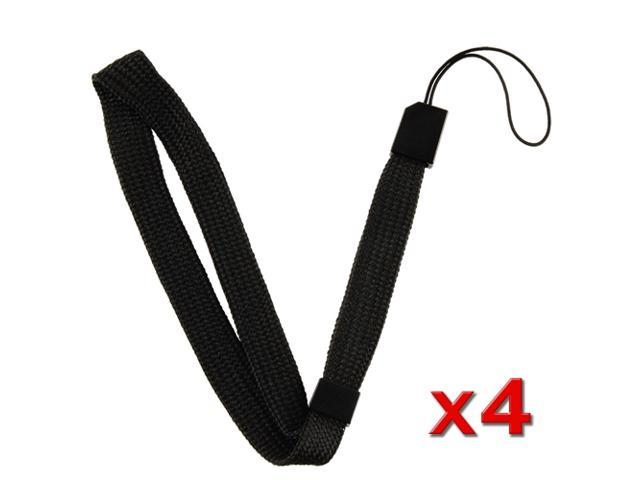 Black Wrist Strap for Nintendo Wii Remote Control / Controller (4-Pack)