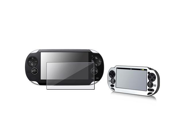 Silver Aluminum Case with FREE Reusable Screen Protector for Sony PlayStation Vita