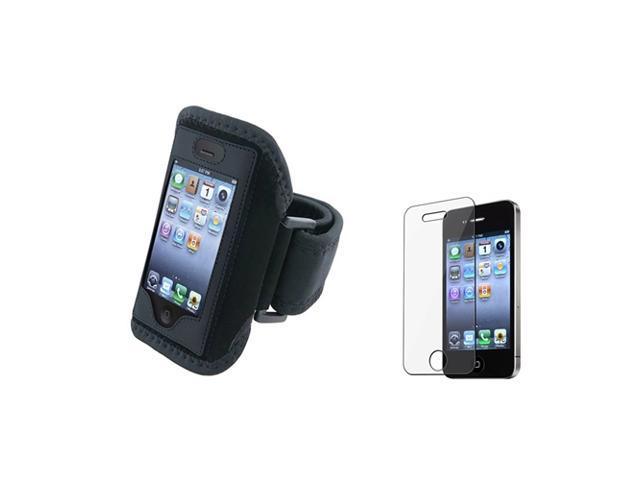 eForCity Sport Armband+Screen Protector Compatible With iPhone 4 4S 4G 4th Ios4