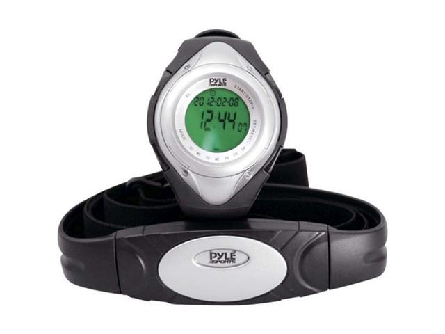 Pyle Heart Rate Monitor Watch w/Minimum, Average Heart Rate, Calorie Counter, and Target Zones (Silver Color)