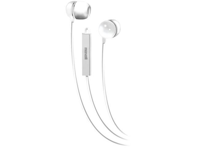 Maxell 190303 - Iemicwht Stereo In-Ear Earbuds With Microphone & Remote (White)