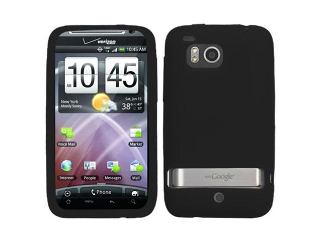 MYBAT Solid Skin Cover (Black) for HTC ADR6400 (Thunderbolt)