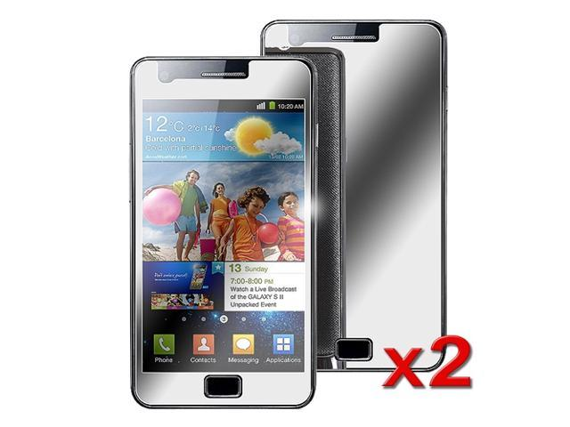eForCity 2X Mirror LCD Screen Protector Cover Guard Film Shield Compatible with Samsung© Galaxy S2 i9100