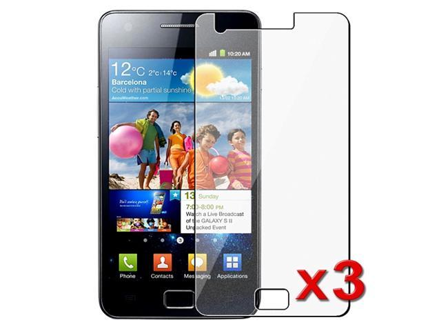 eForCity 3X Compatible with Samsung© Galaxy S2 i9100 Diamond Crystal Clear LCD Screen Protector Cover Guard Film Shield Film